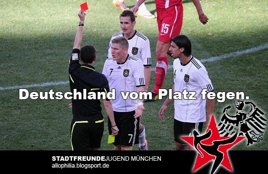 Deutschland vom Platz fegen